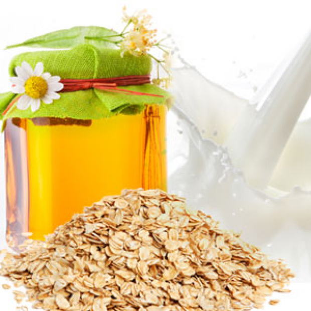Oatmeal, Milk and Honey for making candles, soaps, creams, lotions, tonics and other cosmetics