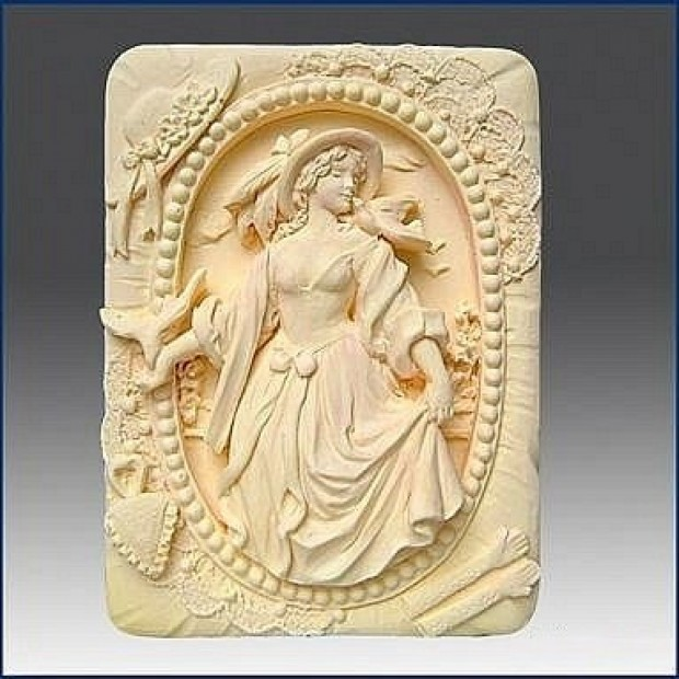 Silicone mold - Lady - for making soaps, candles and figurines