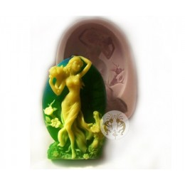 Silicone mold - Goddess - for making soaps, candles and figurines