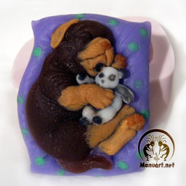 Silicone mold - Doggy dreams - for making soaps, candles and figurines