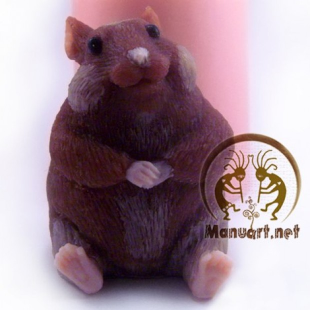 Silicone mold - Hamster looking at you 3D - for making soaps, candles and figurines