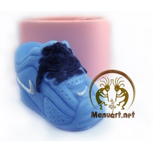 Silicone mold - 3D Sneaker - for making soaps, candles and figurines