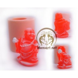 Silicone mold - Hotei with a ball 3D - for making soaps, candles and figurines