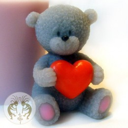 Teddy bear with heart 3D