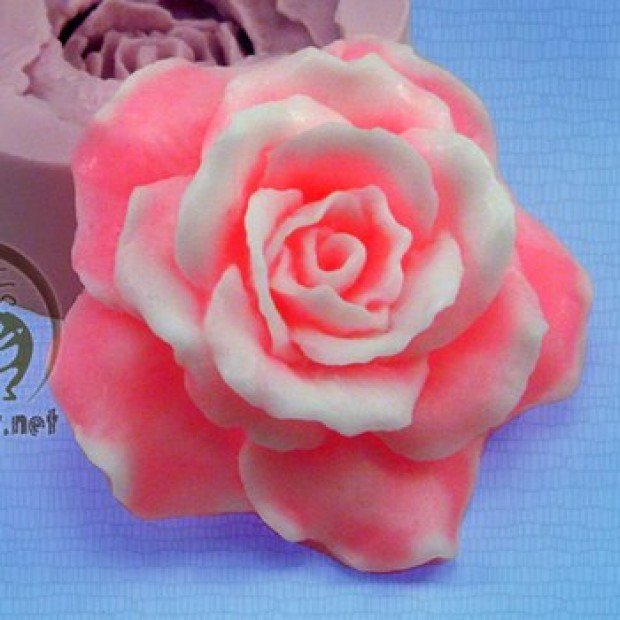 Silicone mold - 3D Rose - for making soaps, candles and figurines