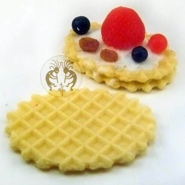 Silicone mold - Waffle cookies - for making soaps, candles and figurines