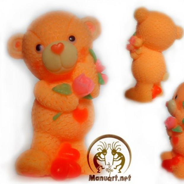 Silicone mold - Wedding Bear 3D - for making soaps, candles and figurines