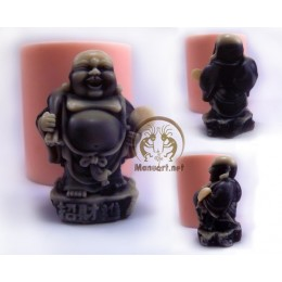 Silicone mold - Hotei Netsuke with a bag  - for making soaps, candles and figurines