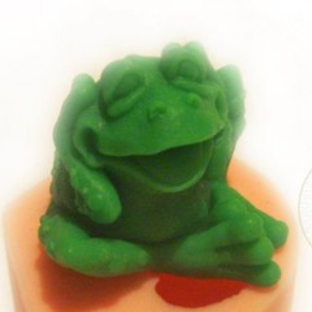 Silicone mold - Toad 3D - for making soaps, candles and figurines