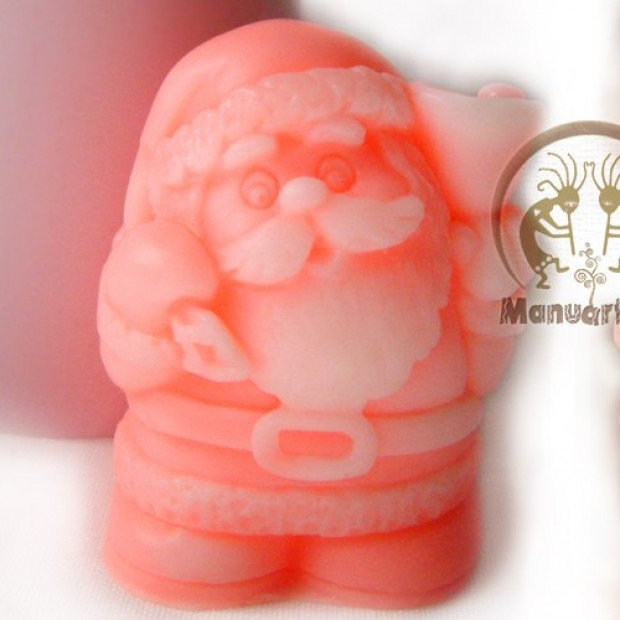 Silicone mold - Cute Santa 3D - for making soaps, candles and figurines