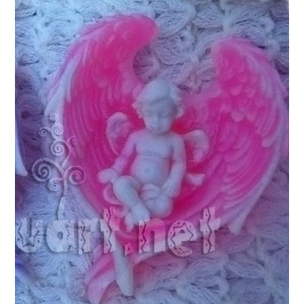 """Silicone mold - Angel wings â""""–2 - for making soaps, candles and figurines"""