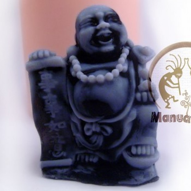Silicone mold - Hotei with the manuscript 3D - for making soaps, candles and figurines