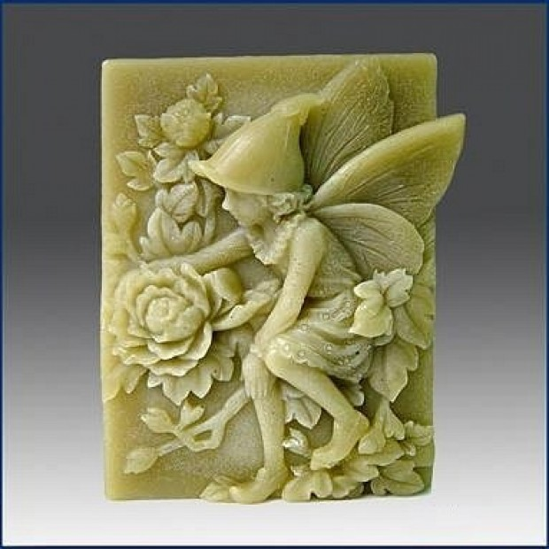 Silicone mold - Spring fairy with flowers - for making soaps, candles and figurines