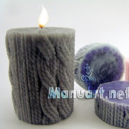 The knitted candle
