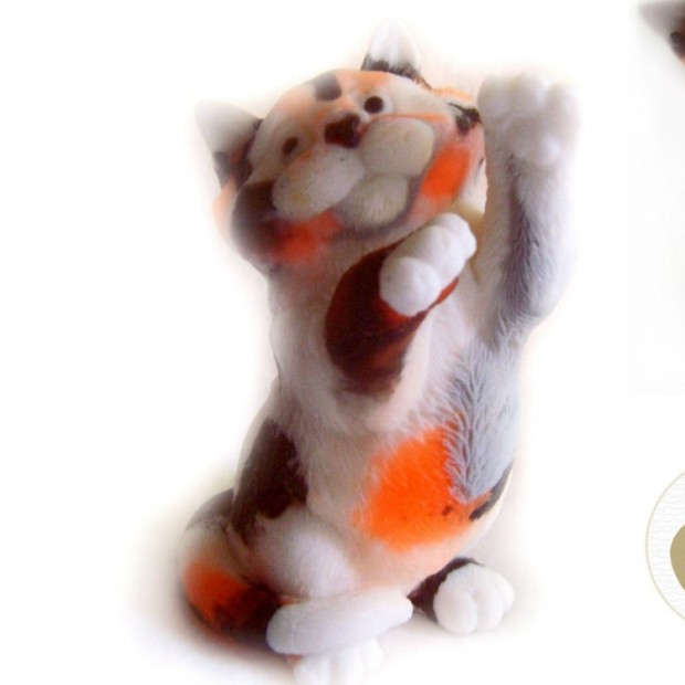 Silicone mold - Cat purr 3D - for making soaps, candles and figurines