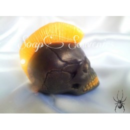 Silicone mold - 3D skull with mohawk