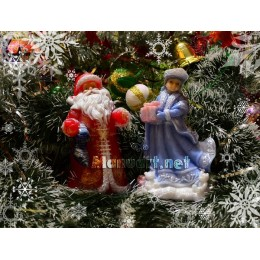 Silicone mold - Father Frost 3D - for making soaps, candles and figurines