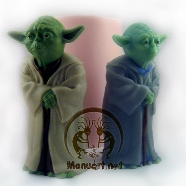 Silicone mold - Yoda 3D - for making soaps, candles and figurines