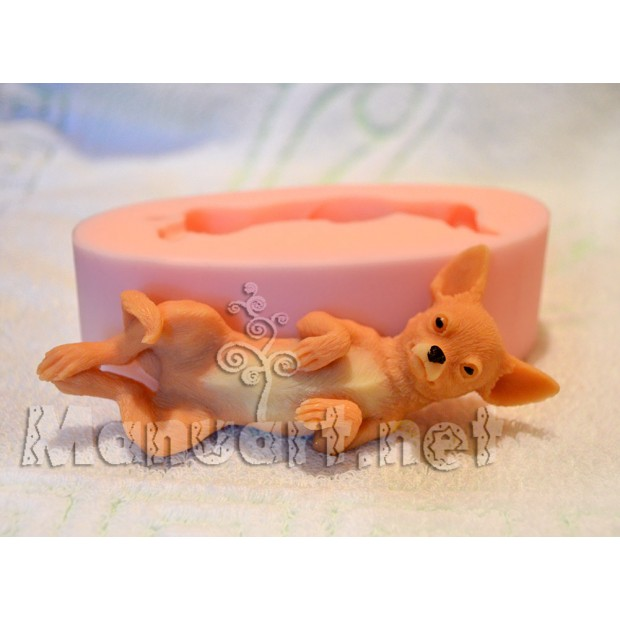 Silicone mold - Chihuahua - for making soaps, candles and figurines