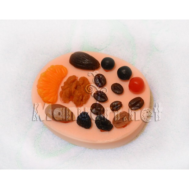 Silicone mold - Berry set № 1 - for making soaps, candles and figurines