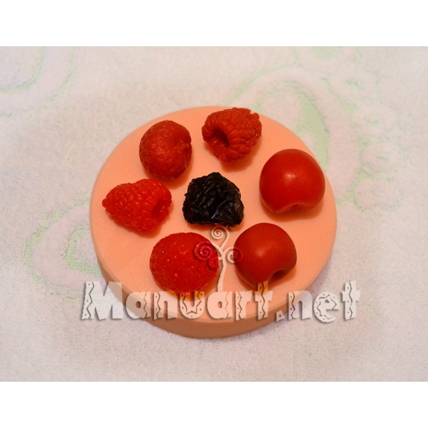 Silicone mold - Berry set № 3 - for making soaps, candles and figurines