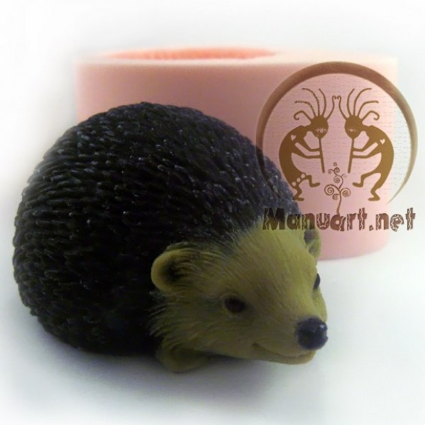 Silicone mold - Hedgehog forest - for making soaps, candles and figurines
