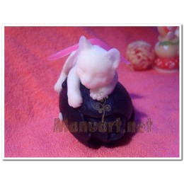 Silicone mold - Fairy Cat 3D - for making soaps, candles and figurines