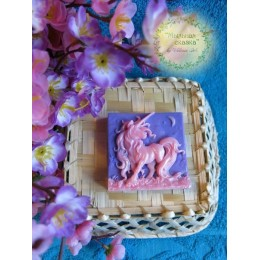 Silicone mold - Queen of the Unicorns, Unicorn - for making soaps, candles and figurines