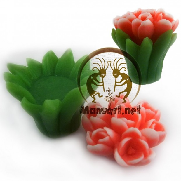 Silicone mold - Bouquet of tulips - for making soaps, candles and figurines