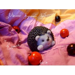 Silicone mold - Hedgehog 3D - for making soaps, candles and figurines