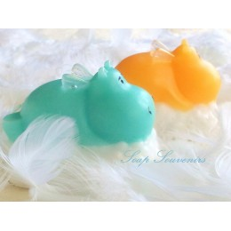 Silicone mold - Hippo on the cloud - for making soaps, candles and figurines