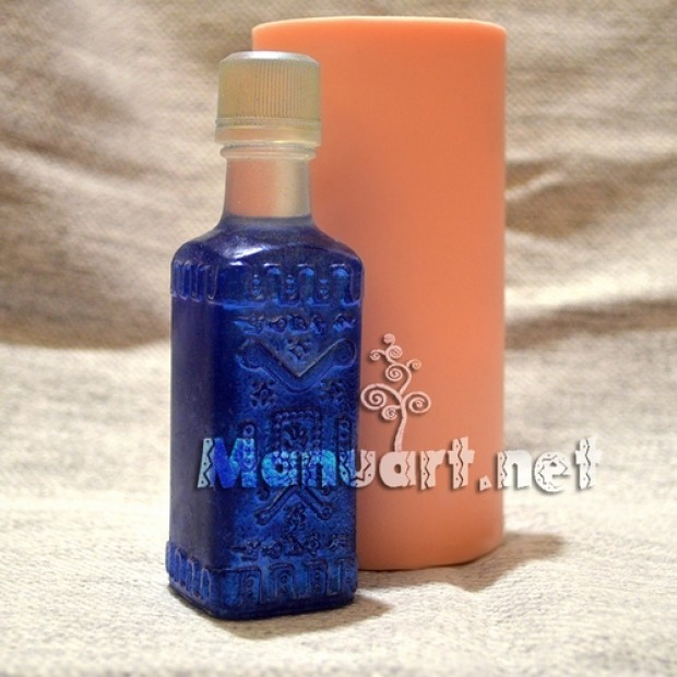 Silicone mold - Bottle 3D № 3 - for making soaps, candles and figurines