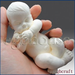 Baby with Teddy Bear 3D