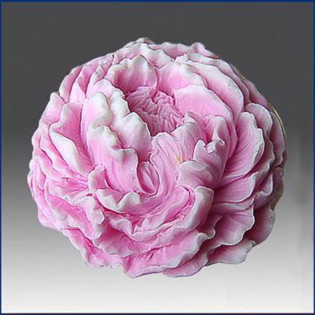 Silicone mold - A terry peony 3D - for making soaps, candles and figurines