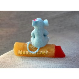 Silicone mold - 3D Mouse on lipstick - for making soaps, candles and figurines