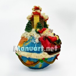 Silicone mold - Christmas 3D globe - for making soaps, candles and figurines