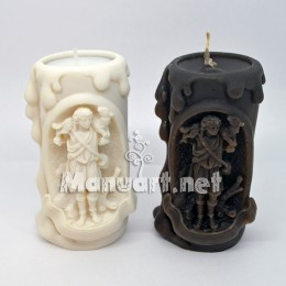 "Candle mold ""A young man with a lamb on his shoulders"""
