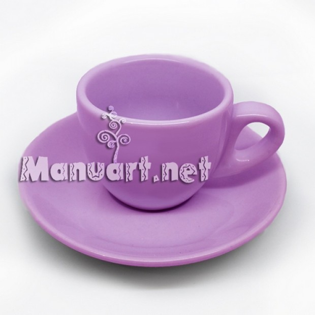 Silicone mold - Saucer 3D - for making soaps, candles and figurines