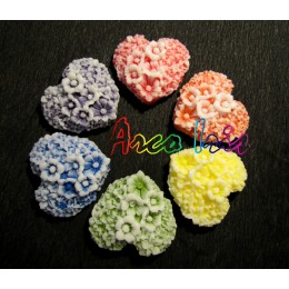 Silicone mold - Flower heart - for making soaps, candles and figurines