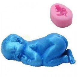 Silicone mold - Baby little 3D - for making soaps, candles and figurines