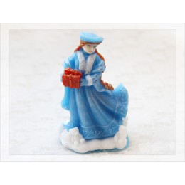 Silicone mold - Snow Maiden 3D  - for making soaps, candles and figurines