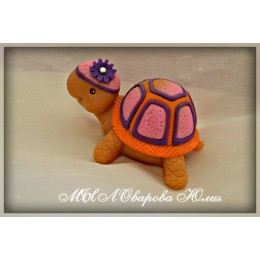 Silicone mold - Large turtle 3D - for making soaps, candles and figurines