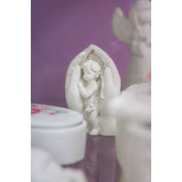 Silicone mold - Angel in the palms 3D - for making soaps, candles and figurines