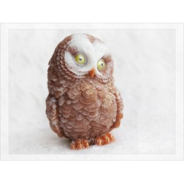 Silicone mold - Owl 3D - for making soaps, candles and figurines