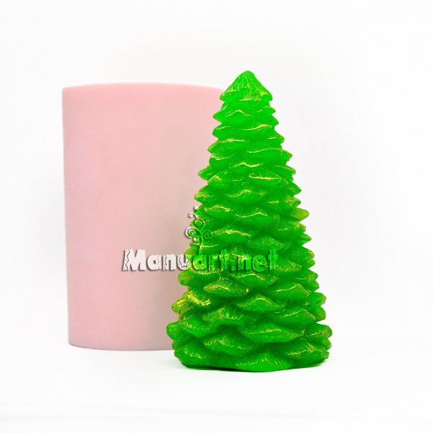 Silicone mold - Christmas tree 3D - for making soaps, candles and figurines