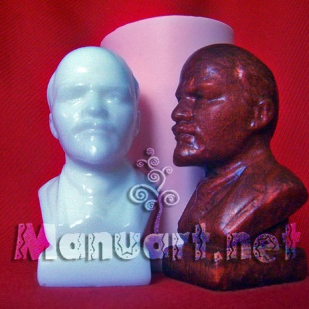 Silicone mold - bust of Lenin - for making soaps, candles and figurines