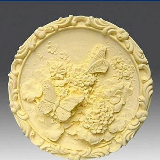 Silicone mold - Butterfly Garden  - for making soaps, candles and figurines