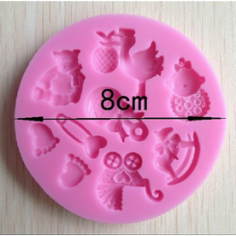Silicone mold - Mold baby kit №1 - for making soaps, candles and figurines