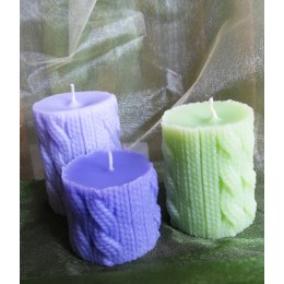 Silicone mold - The knitted candle - for making soaps, candles and figurines