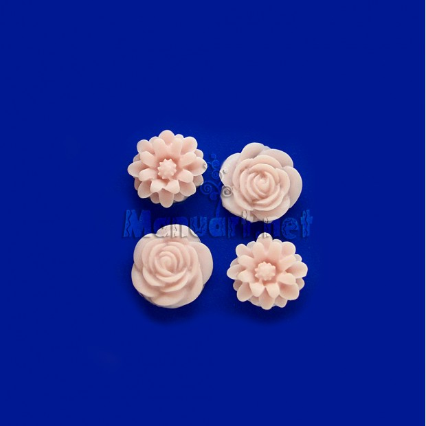 Silicone mold - Mold mini roses and chrysanthemums - for making soaps, candles and figurines